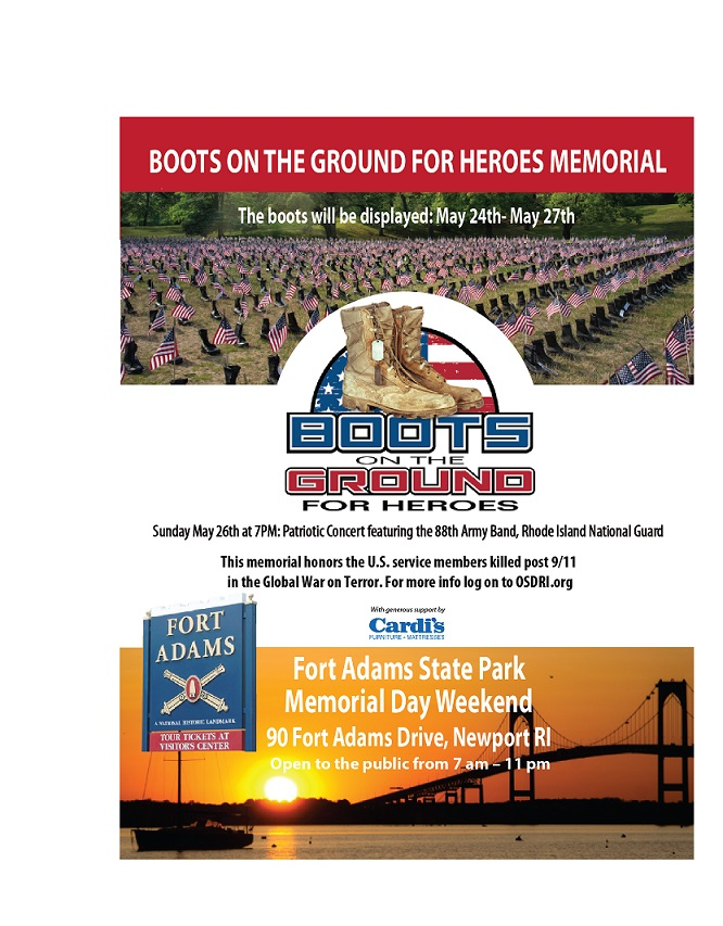 BOOTS on the GROUND FOR HEROES @ FORT ADAMS STATE PARK